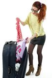 With suitcase. Stock Photos