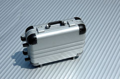 Suitcase 3. Suitcase standing alone royalty free stock photography