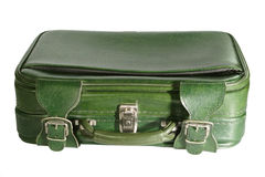 Suitcase. Green suitcase - isolated on white background royalty free stock photos