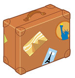 Suitcase. Vector Isolated brown ancient suitcase Royalty Free Illustration