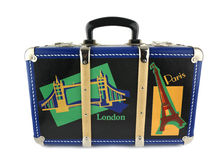 Suitcase. Travel in attractive colours Royalty Free Stock Photo