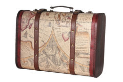 Suitcase. Leather suitcase, clipping path included Stock Photos
