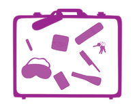 Suitcase. With things.Travel royalty free illustration