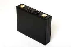Suitcase. Picture of a black leather suitcase view from top Royalty Free Stock Photography