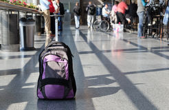 Suitcase in the airport Royalty Free Stock Photo