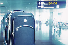 Suitcase at the airport Stock Image