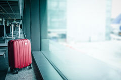 Suitcase in airport Royalty Free Stock Photos