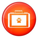 Suitcase for animals icon, flat style Royalty Free Stock Photos