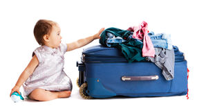Suitcase baby Stock Image