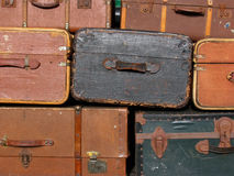 Suitcase background. A background of old suitcases royalty free stock photography