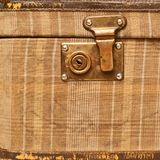 Suitcase bag lock fragment Stock Photography