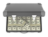 Suitcase of banknotes. Royalty Free Stock Image