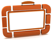 Suitcase-blank billboard Royalty Free Stock Image