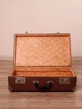 Suitcase. Blank open vintage old suitcase Royalty Free Stock Photos