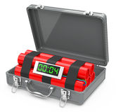 The suitcase bomb Stock Photo