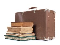Suitcase and book Stock Photo
