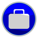 Suitcase button Stock Image