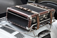 Suitcase on a Car Stock Photos