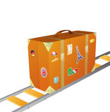 Suitcase cartoon Royalty Free Stock Images