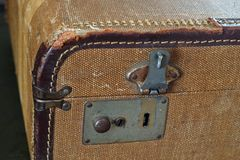 Suitcase clasp crop Stock Photography