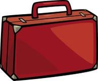 Suitcase clip art cartoon illustration Stock Image