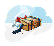 Suitcase_clothes Lizenzfreies Stockbild