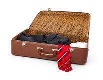 A suitcase with clothes Stock Photos
