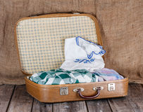 Suitcase with clothes Royalty Free Stock Photography