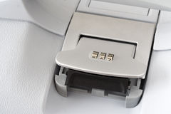Suitcase combination lock Royalty Free Stock Photo