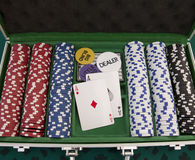 Briefcase poker Stock Images