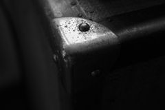 Suitcase corner. Old suitcase corner view from close up Royalty Free Stock Photography