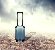 Suitcase in Desert Royalty Free Stock Image