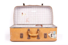 Suitcase Detail. An old worn vintage suitcase Stock Images