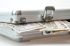 Suitcase with Dollar notes Royalty Free Stock Photography