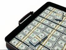 Suitcase of dollars Stock Image