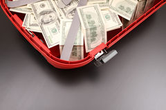 Suitcase with dollars Royalty Free Stock Image