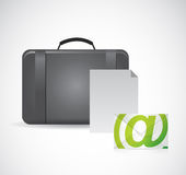 Suitcase and email documentation Royalty Free Stock Photography