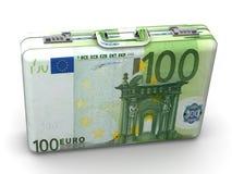 Suitcase with euro Stock Photo