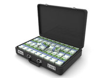 Suitcase with euro. 3d Royalty Free Stock Photo