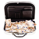 Suitcase filled with money Royalty Free Stock Photography