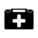 Suitcase first aid medical pictogram. Vector illustration eps 10 Stock Images