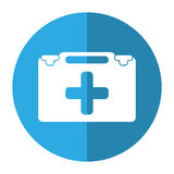 Suitcase first aid medical shadow. Vector illustration eps 10 Royalty Free Stock Image