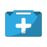 Suitcase first aid medical. Vector illustration eps 10 Stock Photography