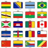 Suitcase with flag Royalty Free Stock Images