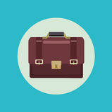 Suitcase flat icon design Stock Images