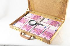Suitcase Full of Banknotes Stock Image
