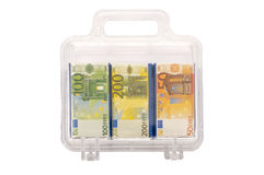 Suitcase full of money Stock Photography