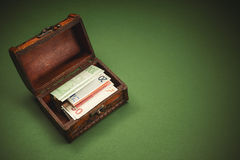 Suitcase Full of Money Royalty Free Stock Image