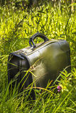 Suitcase in the grass Royalty Free Stock Photo