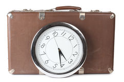 Suitcase hours Royalty Free Stock Photos